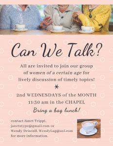 Can We Talk? [Women's Group]