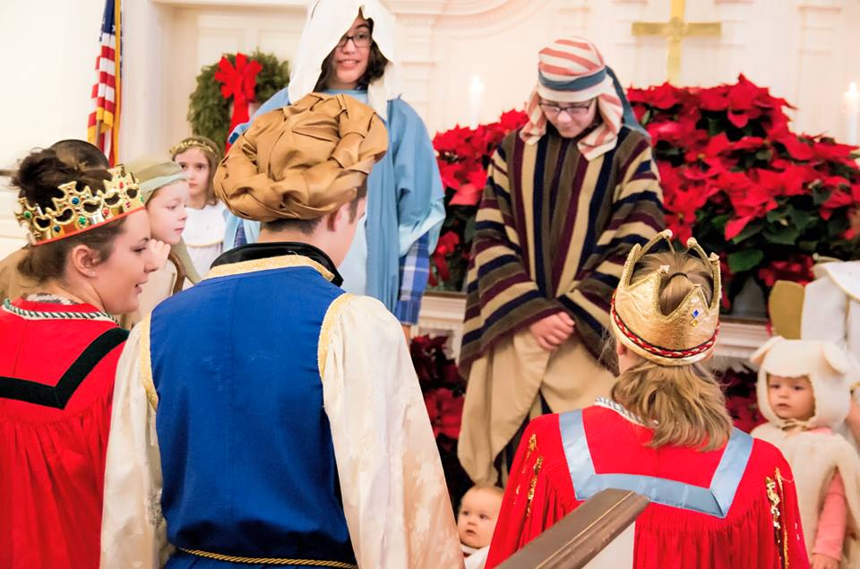 Christmas Pageant at First Congregational Church, Shrewsbury, MA.