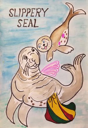 Slippery Seal Faces the Evil Scary-faced Monster