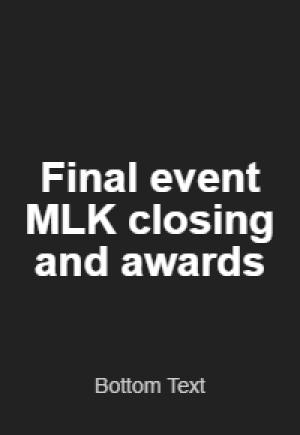 kwanzaa film festival Martin Luther King Jr Award Ceremony