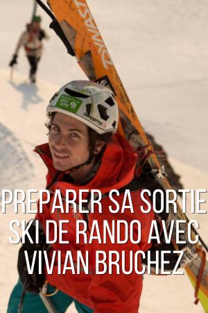 Préparation d'une sortie ski de rando avec Vivian Bruchez