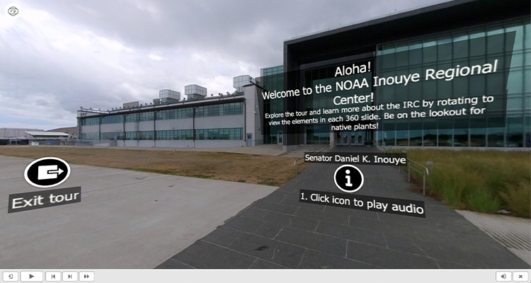 Screenshot of NOAA IRC 360 virtual tour.