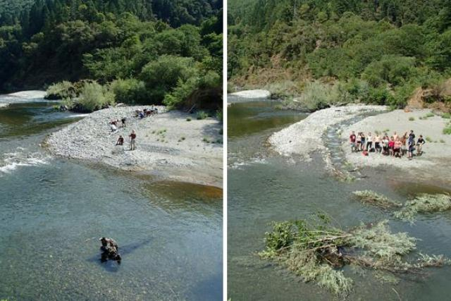 Mid Klamath Watershed Council crews provide fish passage to Red Cap Creek on the Klamath River in California.