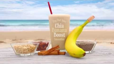 Tropical Smoothie Cafe's Chia Banana Boost Smoothie