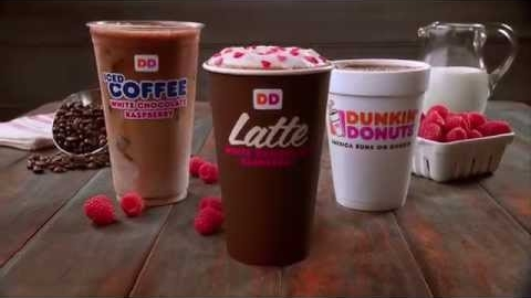 New White Chocolate Raspberry Lattes from Dunkin' Donuts