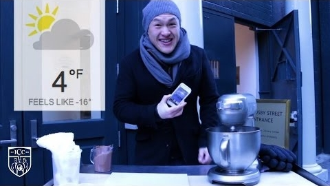 Polar Vortex Ice Cream in 8 Minutes