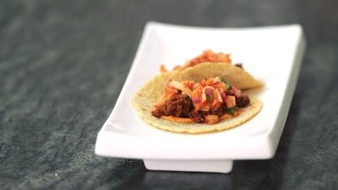 Kimchi Chorizo Tacos