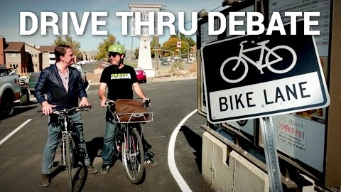 Should Bikes Be Allowed in the Drive-Thru Lane?