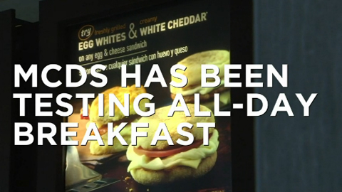 McDonald's Enters All-Day Breakfast Game