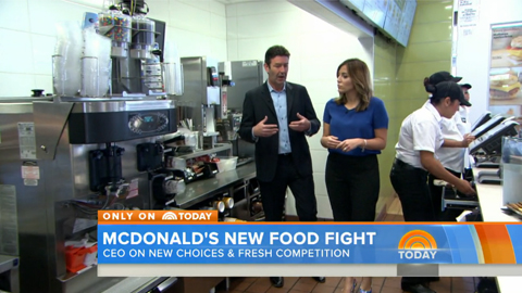 McDonald's CEO Talks About Healthier Menu Options