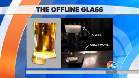 Beer Glass Designed to Deter Phone Use