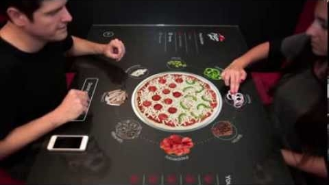Pizza Hut's Interactive Concept Table