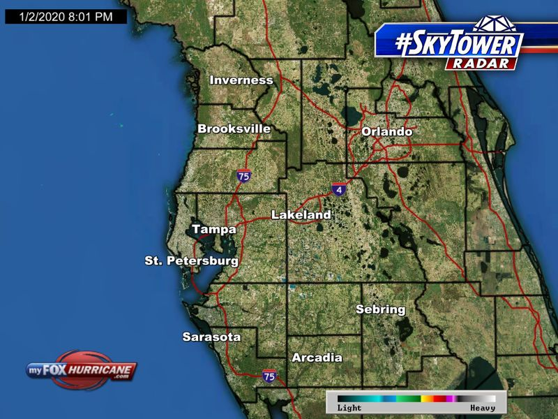 Animated Radar For The Tampa Bay Area Fox 13 Tampa Bay