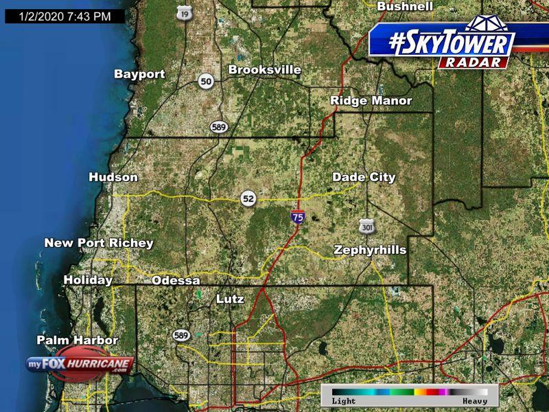 SkyTower radar view of Pasco County, FL | FOX 13 Tampa Bay