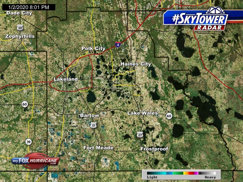 Florida Weather Map In Motion.Skytower Radar View Of Polk County Fl Fox 13 Tampa Bay