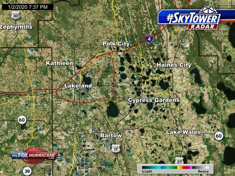 SkyTower radar view of Lakeland, Florida | FOX 13 Tampa Bay