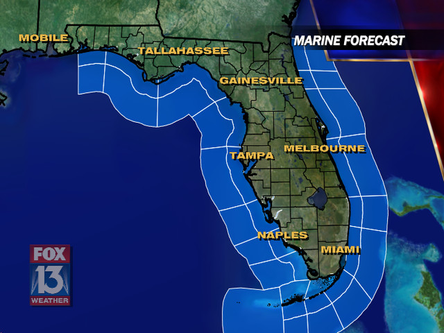 Marine Weather Map.Marine Weather Conditions And Forecasts Tampa Bay And Florida Fox