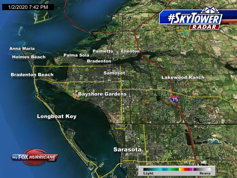 SkyTower radar view of the Bradenton, FL area | FOX 13 Tampa Bay