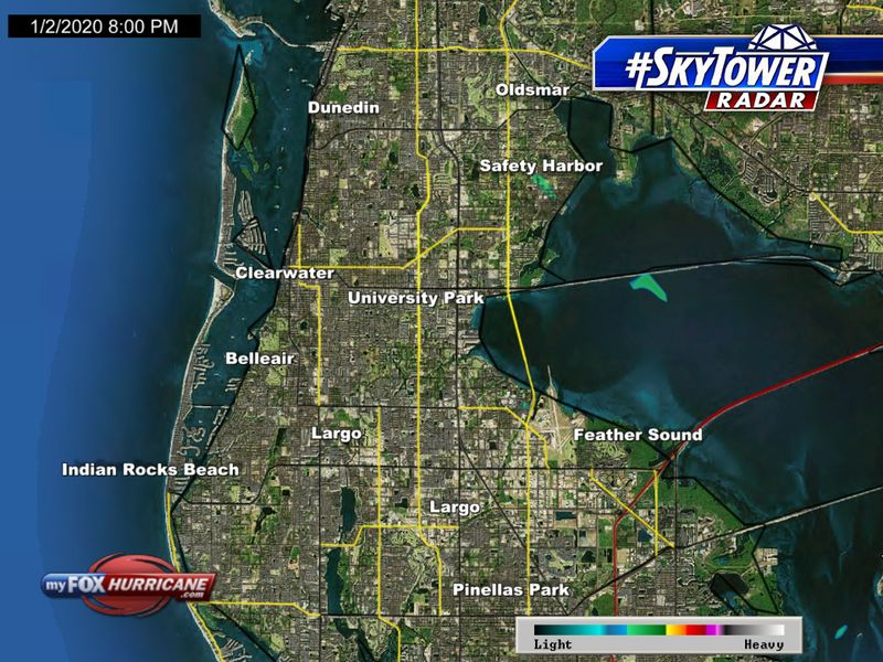 Clearwater Beach Florida Map.Skytower Radar View Of The Clearwater Beach Fl Area Fox 13 Tampa Bay