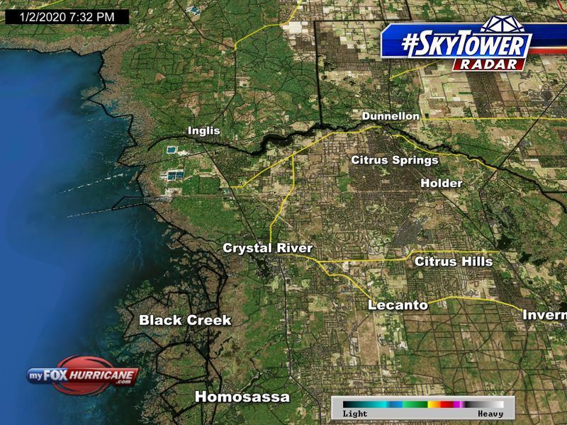 SkyTower radar view of the Crystal River, FL area | FOX 13 Tampa Bay