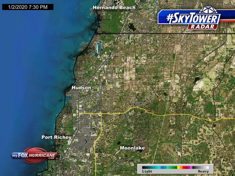 SkyTower radar view of the Hudson, FL area | FOX 13 Tampa Bay