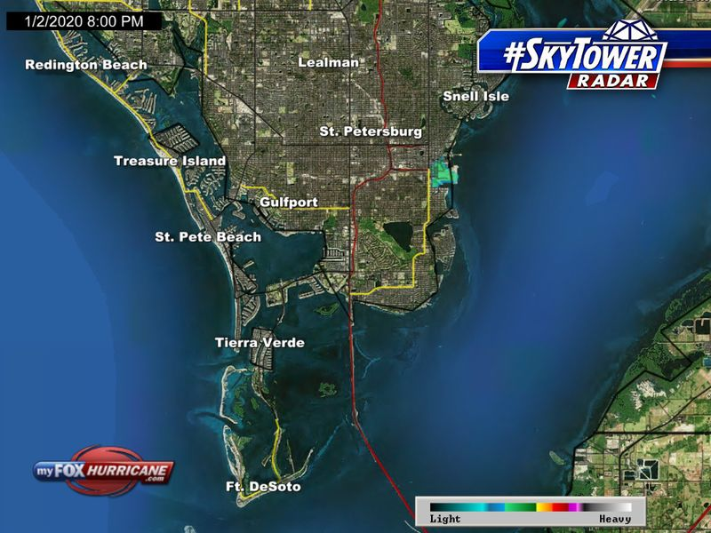 Skytower Radar View Of St Petersburg Fl Fox 13 Tampa Bay