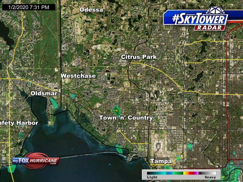 SkyTower radar view of the Westchase, FL area | FOX 13 Tampa Bay