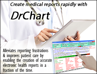 Create medical reports rapidly with DrChart