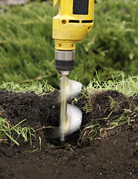 planting bulbs with an auger