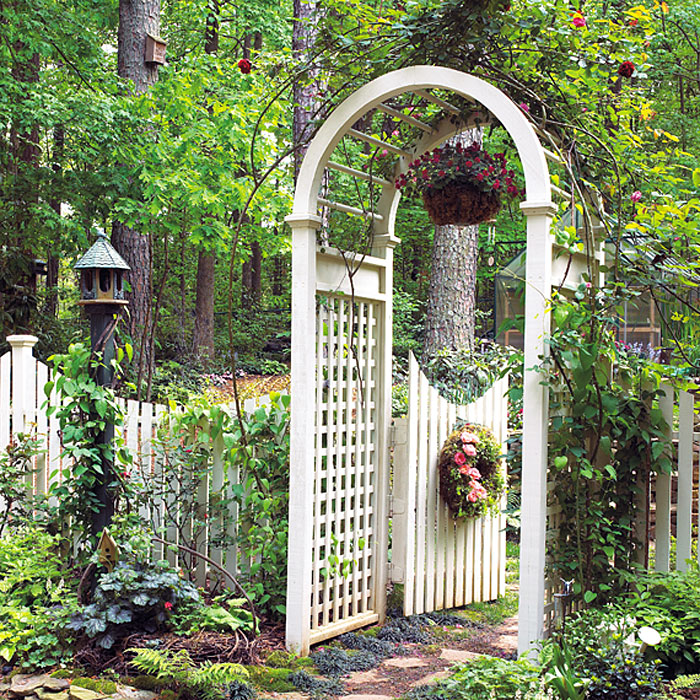 garden arbor with gate arbors enotes