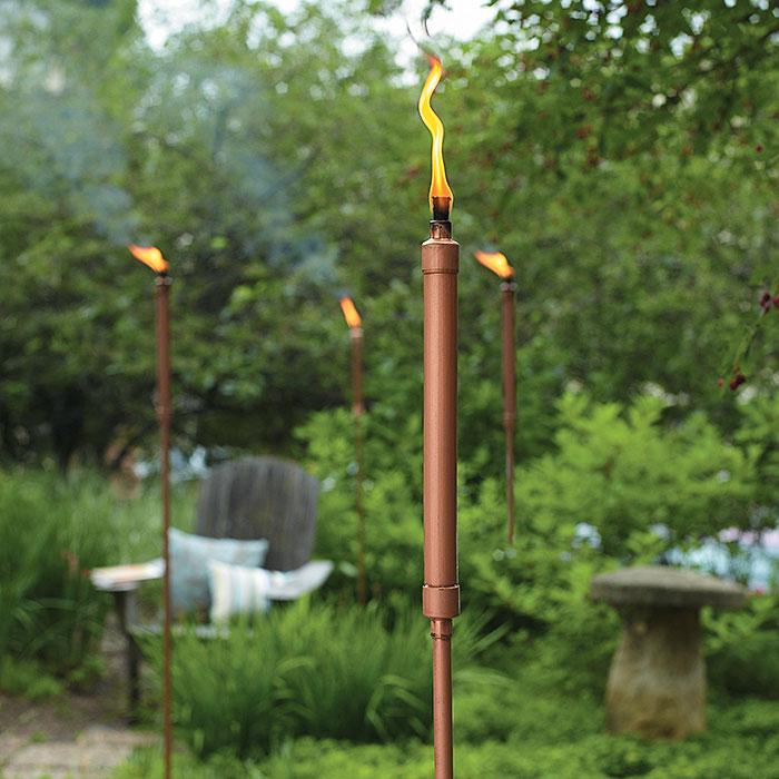 copper patio torch garden gate magazinegarden gate magazine