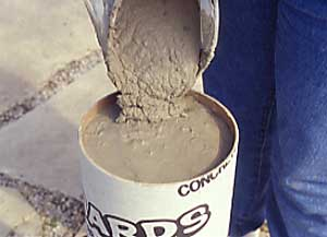 Pour the concrete