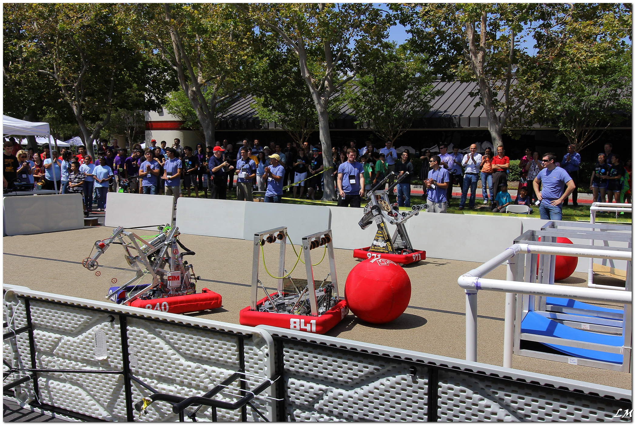 intuitive surgicals annual robonanza event features scores of silicon valley high school students representing first robotics teams who spend a day at intuitive company office photo