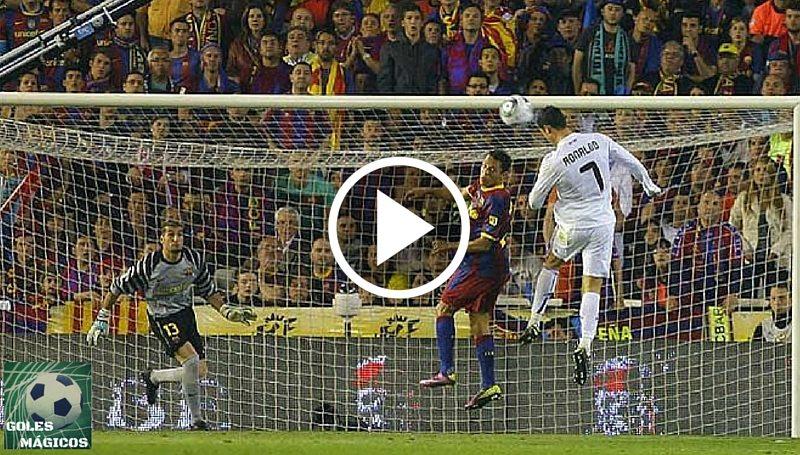 Cristiano Ronaldo gol cabeza copa del rey
