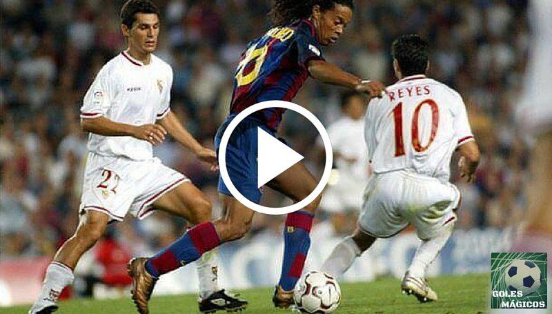 Ronaldinho gol debut Sevilla