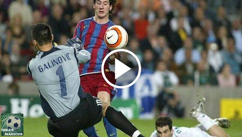Messi primer gol champions