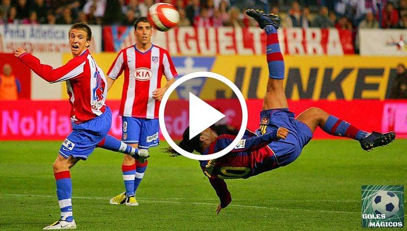 Ronaldinho chilena Atlético