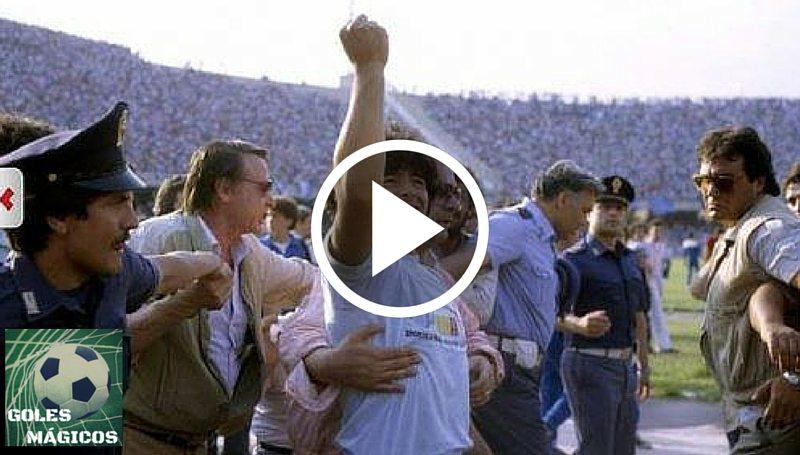 Maradona presentación Napoles