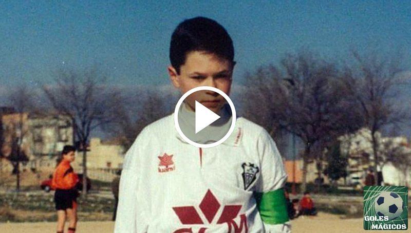 Iniesta de pequeño jugador Albacete