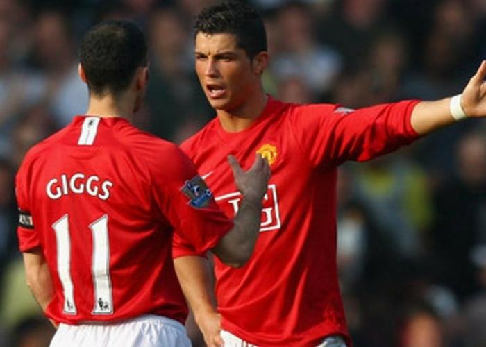 Cristiano Ronaldo y Giggs