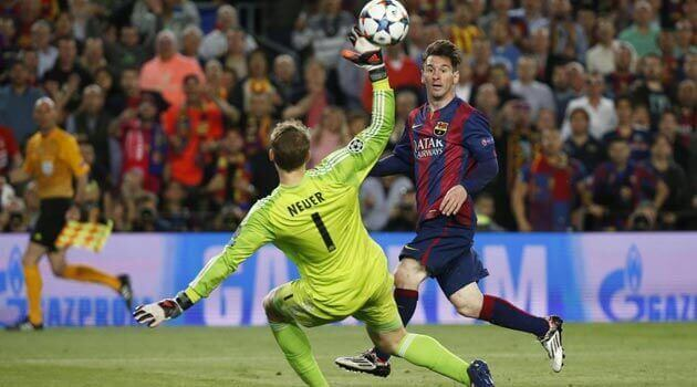 Messi Neuer gol picada