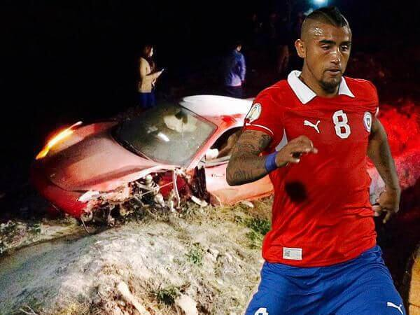 Arturo Vidal accidente tráfico ebrio