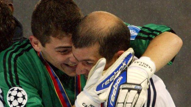 Iker Casillas Zidane Champions League Glasgow 2002
