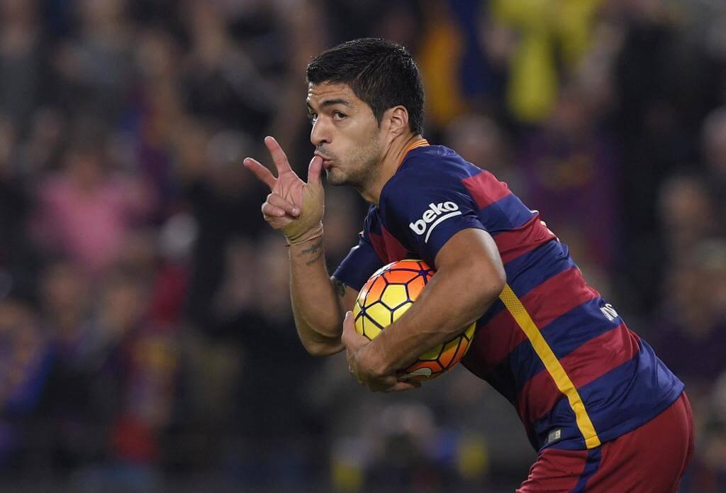 Hat trick luis suarez eibar barcelona
