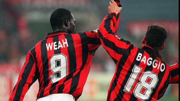George Weah y Roberto Baggio