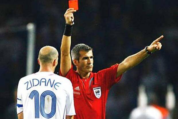 Zidane expulsión