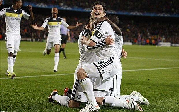 Lampard celebra