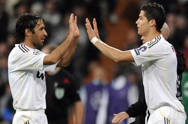 Raúl y Cristiano