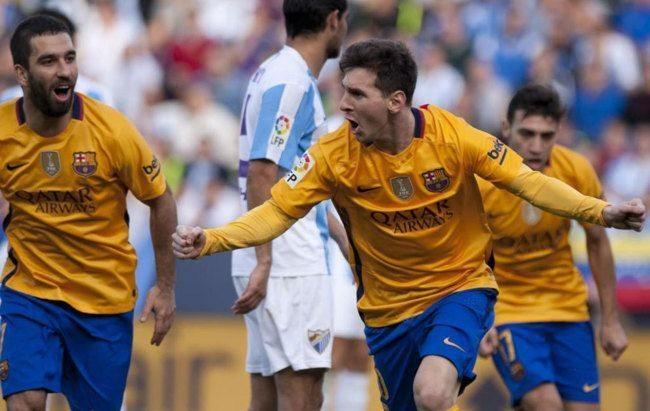 Messi gol Malaga