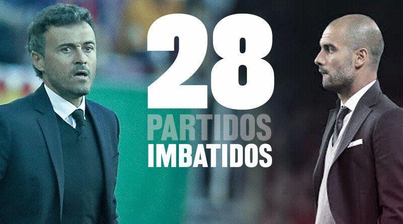 Luis Enrique Pep Guardiola 28 partidos imbatido FC Barcelona
